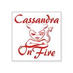 Cassandra On Fire Square Sticker 3