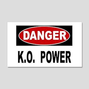 K.O. Power 20x12 Wall Decal