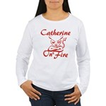 Catherine On Fire Women's Long Sleeve T-Shirt