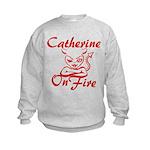 Catherine On Fire Kids Sweatshirt