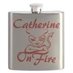Catherine On Fire Flask