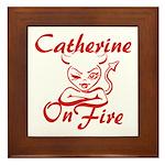 Catherine On Fire Framed Tile