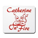 Catherine On Fire Mousepad