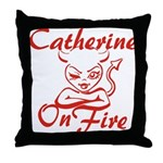 Catherine On Fire Throw Pillow