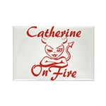Catherine On Fire Rectangle Magnet