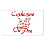 Catherine On Fire Sticker (Rectangle)