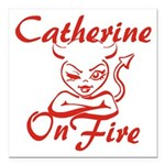 Catherine On Fire Square Car Magnet 3