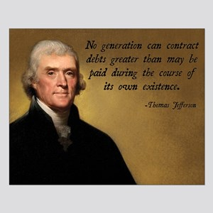 Jefferson Debt Quote Small Poster