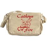 Cathryn On Fire Messenger Bag