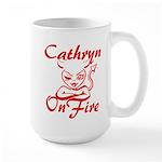 Cathryn On Fire Large Mug
