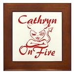 Cathryn On Fire Framed Tile