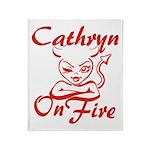 Cathryn On Fire Throw Blanket