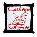 Cathryn On Fire Throw Pillow