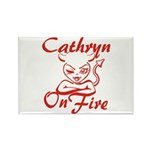Cathryn On Fire Rectangle Magnet