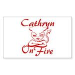 Cathryn On Fire Sticker (Rectangle)