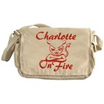 Charlotte On Fire Messenger Bag