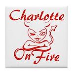 Charlotte On Fire Tile Coaster