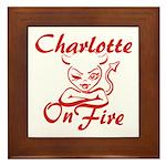 Charlotte On Fire Framed Tile