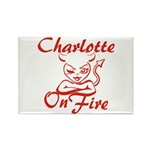 Charlotte On Fire Rectangle Magnet