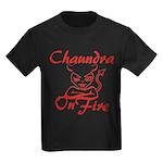 Chaundra On Fire Kids Dark T-Shirt