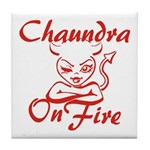Chaundra On Fire Tile Coaster