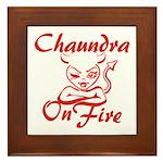 Chaundra On Fire Framed Tile