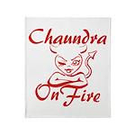 Chaundra On Fire Throw Blanket