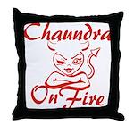 Chaundra On Fire Throw Pillow