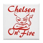 Chelsea On Fire Tile Coaster