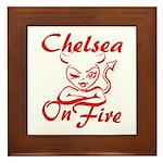 Chelsea On Fire Framed Tile
