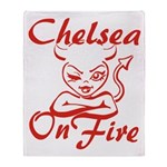 Chelsea On Fire Throw Blanket