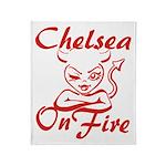 Chelsea On Fire Throw Blanket