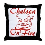 Chelsea On Fire Throw Pillow