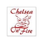 Chelsea On Fire Square Sticker 3