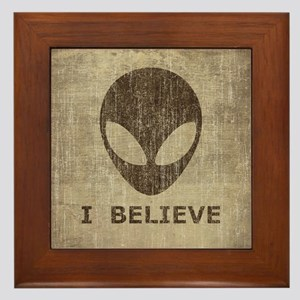 Vintage Alien (I Believe) Framed Tile