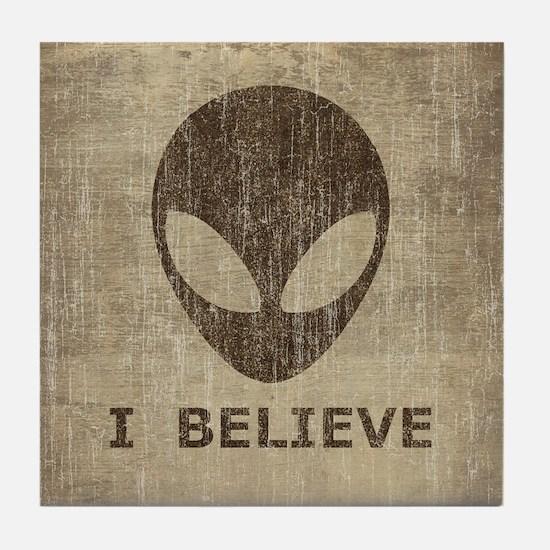 Vintage Alien (I Believe) Tile Coaster