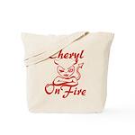Cheryl On Fire Tote Bag