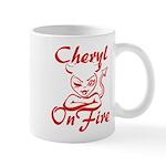 Cheryl On Fire Mug