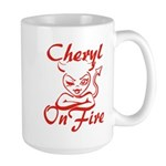 Cheryl On Fire Large Mug