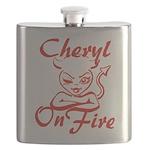 Cheryl On Fire Flask