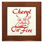 Cheryl On Fire Framed Tile