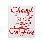 Cheryl On Fire Throw Blanket