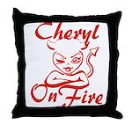 Cheryl On Fire Throw Pillow