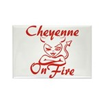 Cheyenne On Fire Rectangle Magnet