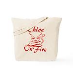 Chloe On Fire Tote Bag