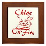 Chloe On Fire Framed Tile