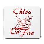 Chloe On Fire Mousepad