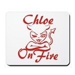 Chloe On Fire Mousepad