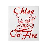 Chloe On Fire Throw Blanket