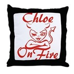 Chloe On Fire Throw Pillow